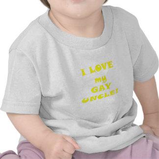 Amo a mi tío gay camisetas