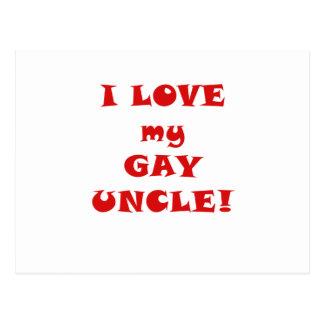 Amo a mi tío gay postal
