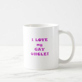 Amo a mi tío gay taza de café