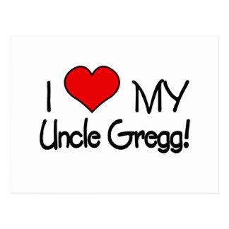 Amo a mi tío Gregg Tarjeta Postal