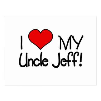 ¡Amo a mi tío Jeff! Tarjeta Postal