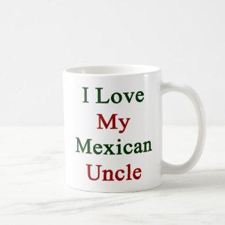 Amo a mi tío mexicano taza clásica