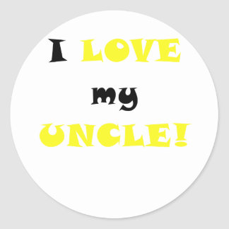 Amo a mi tío pegatina redonda