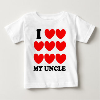 Amo a mi tío playera para bebé