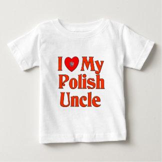 Amo a mi tío polaco playera de bebé