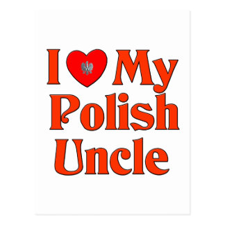 Amo a mi tío polaco tarjeta postal