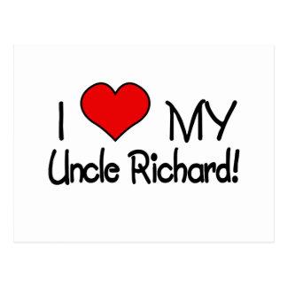 ¡Amo a mi tío Richard! Postal
