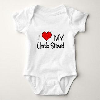 Amo a mi tío Steve Body Para Bebé