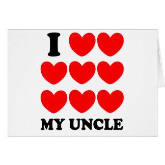 Amo a mi tío tarjeta de felicitación
