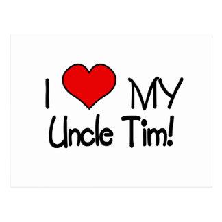 Amo a mi tío Tim Tarjetas Postales