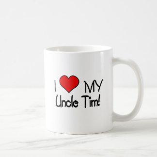 Amo a mi tío Tim Taza Básica Blanca
