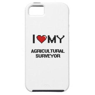 Amo a mi topógrafo agrícola iPhone 5 Case-Mate cárcasas