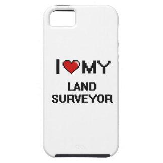 Amo a mi topógrafo de la tierra iPhone 5 carcasa