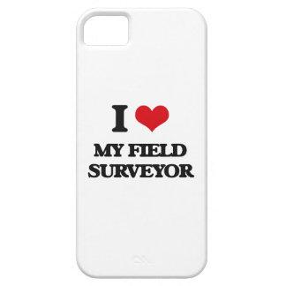 Amo a mi topógrafo del campo iPhone 5 protectores