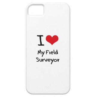 Amo a mi topógrafo del campo iPhone 5 fundas