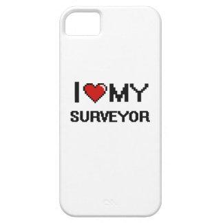 Amo a mi topógrafo iPhone 5 carcasa