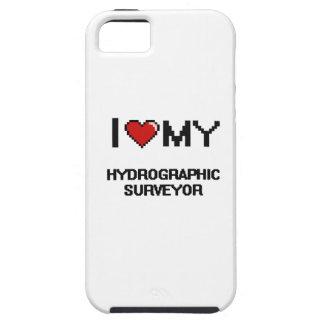 Amo a mi topógrafo hidrográfico iPhone 5 protectores