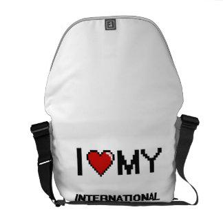 Amo a mi trabajador de ayuda internacional bolsa de mensajeria