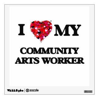 Amo a mi trabajador de los artes de la comunidad