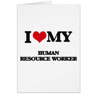 Amo a mi trabajador del recurso humano tarjeton