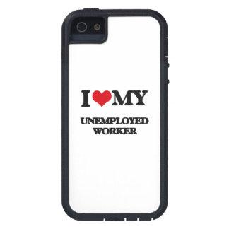 Amo a mi trabajador parado iPhone 5 Case-Mate cárcasa