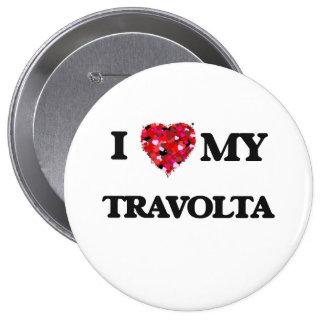 Amo a MI Travolta Pin Redondo 10 Cm