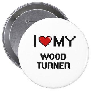 Amo a mi Turner de madera Chapa Redonda 10 Cm