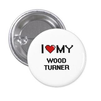 Amo a mi Turner de madera Chapa Redonda 2,5 Cm