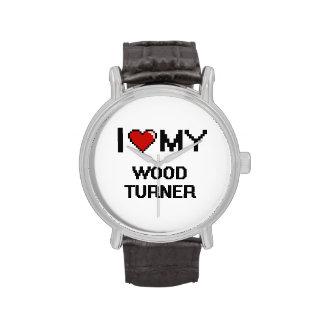 Amo a mi Turner de madera Relojes De Mano