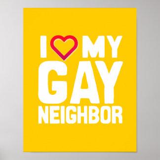 AMO A MI VECINO GAY - - .PNG POSTERS