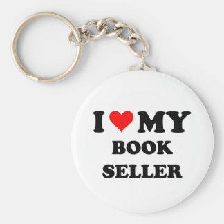 Amo a mi vendedor de libro llaveros personalizados