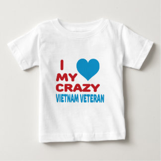 Amo a mi veterano loco de Vietnam Playeras