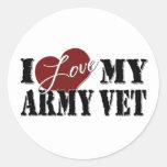Amo a mi veterinario del ejército etiquetas