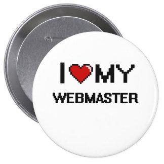 Amo a mi Webmaster Chapa Redonda 10 Cm