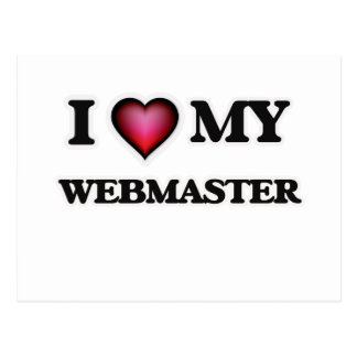 Amo a mi Webmaster Tarjeta Postal