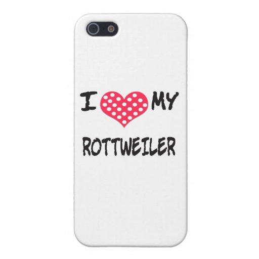 AMO A MI WEILER DE ROTT iPhone 5 FUNDAS