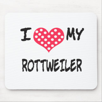 AMO A MI WEILER DE ROTT ALFOMBRILLA DE RATON