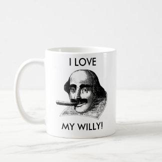 ¡AMO A MI WILLY! TAZA DE CAFÉ