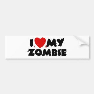 Amo a mi zombi pegatina para auto