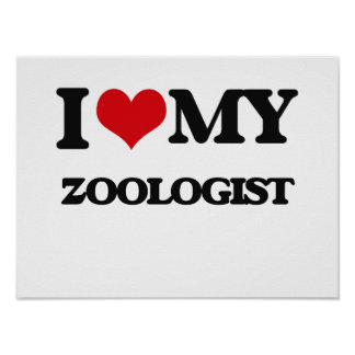 Amo a mi zoologista poster