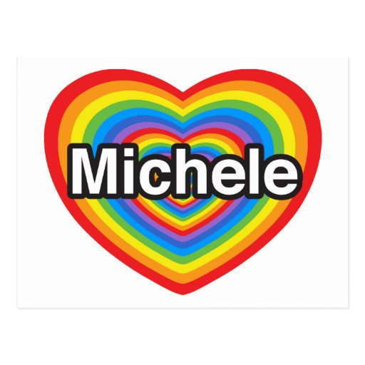 Amo a Micaela. Te amo Micaela. Corazón Tarjetas Postales
