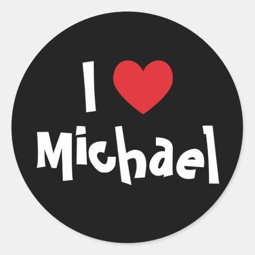 Amo a Michael Pegatina Redonda
