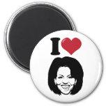 Amo a Michelle Obama Imanes De Nevera