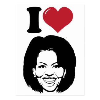 Amo a Michelle Obama Tarjeta Postal