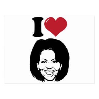 Amo a Michelle Obama Tarjetas Postales