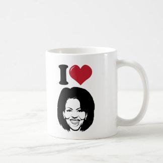 Amo a Michelle Obama Taza Básica Blanca