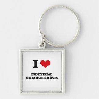 Amo a microbiólogos industriales llavero