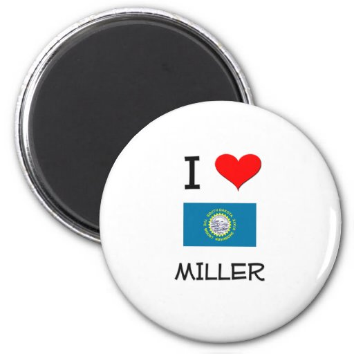 Amo a Miller Dakota del Sur Imán De Nevera
