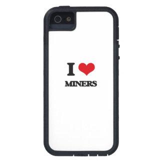 Amo a mineros iPhone 5 carcasa