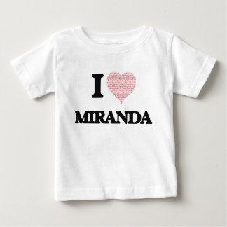 Amo a Miranda Playera Para Bebé
